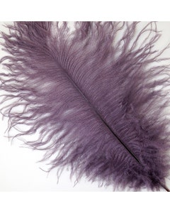 """Ostrich Feathers-Drabs - 9-12"""" - 12 pcs [Premium Top Quality] Amethyst"""