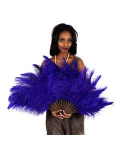 Ostrich Feather Fan - Regal