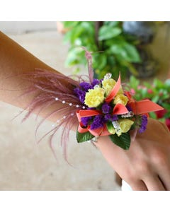 Ostrich Floral Feather corsage