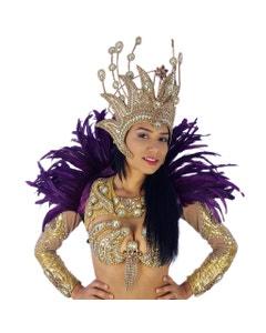 Carnival Feather Collar Purple