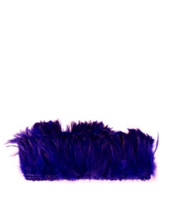 Rooster Hackle-White-Dyed - Dark Lilac
