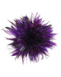 """Badger Rooster Saddle Feathers Strung - 1 Yard 4-6"""" Rooster Feathers - Regal"""