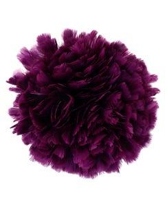 Parried Turkey Ruff Feathers -  1/2YD - Purple