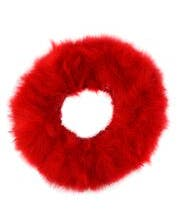"""STRUNG TURKEY MARABOU BLOOD QUILL FEATHERS  3-4"""" - RED"""