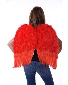 Medium Red Angel Costume Wings
