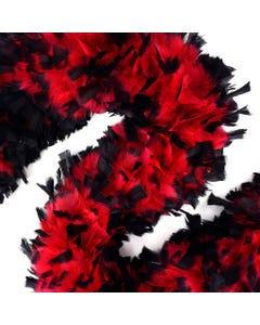Turkey Boas Tipped - Red/Black