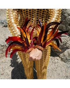 Phoenix Firebird Feather Flame Cuffs 8-10 Inches