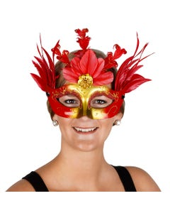 Goose Feather Mask Red
