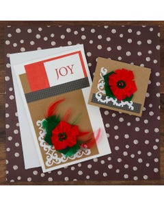 Christmas Holiday Poinsettia Feather Sticker