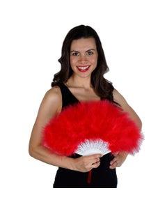 Marabou Feather Fan - Red