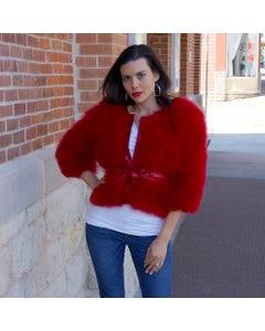 Marabou Jacket Red