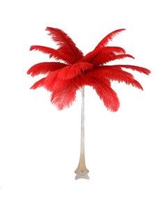 Ostrich Eiffel Tower Centerpiece Red w/Clear Vase