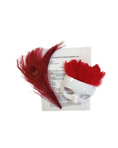 RED FEATHER MASK KIT