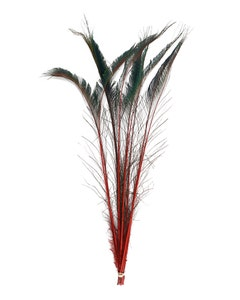 Peacock Swords Stem Dyed - Red