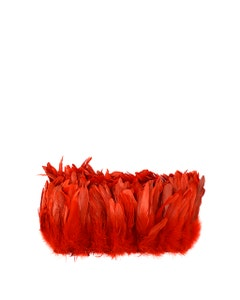 Rooster Coque Tail Feathers Bleach and Dyed - Red