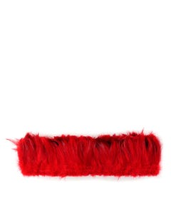Rooster Hackle-White-Dyed - Red