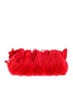 Goose Nagorie Feathers Dyed - Red
