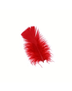 Loose Turkey Plumage Feathers - 0.5 oz - Red