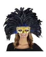 Feather Headdress Mask-Dyed Royal