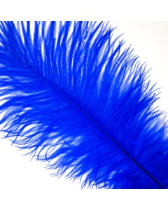 "Ostrich Feathers-Drabs - 9-12"" - 12 pcs [Premium Top Quality] Royal"