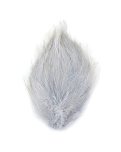 Feather Hackle Pads Dyed - Silver