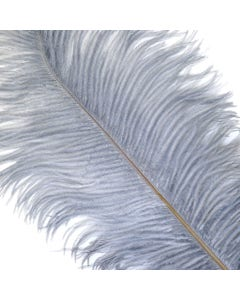 Ostrich Feathers-Drabs Selected - Silver