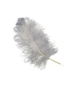 Ostrich Prime Femina Plumes - Silver