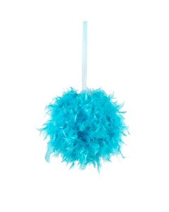 Blue Chandelle Feather Pom Poms