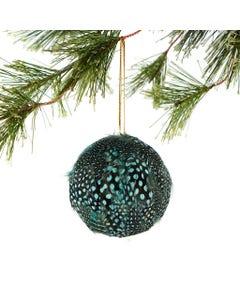 Blue Guinea Feather Ornament