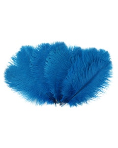 Ostrich Feather Drabs - 1/4 pound (approx. 60 pieces) 13 - 16 inch - Dark Turquoise