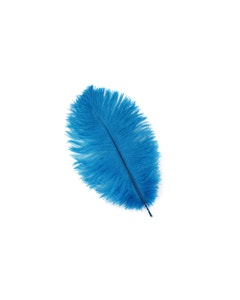 Ostrich Drabs Dyed - Dark Turquoise