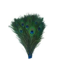 "Bulk Peacock Eye Feathers (Full Eye) Stem Dyed - 100 pc - 8-15"" -  Dark Turquoise"