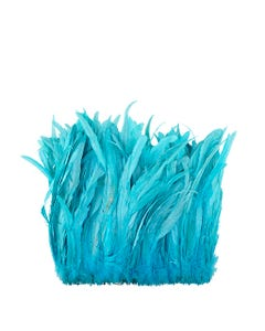 Rooster Coque Tails-Bleach-Dyed - Lt Turquoise