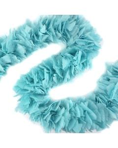 "Turkey Boas Solid Colors - 6 - 8"" Light Turquoise"