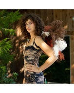 Owl Upcycled Ostrich Feather Costume Wings