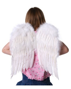 White Small Feather Angel Wings