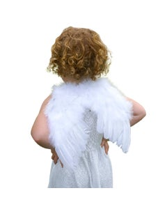"""Infant Feather Angel Wings - White- 11"""" x 12"""""""