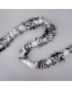 Marabou Craft Boas with Ostrich - White/Black