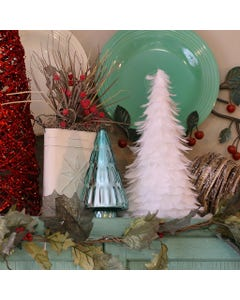 """Goose Coquille Feather Tree 12"""" - White"""