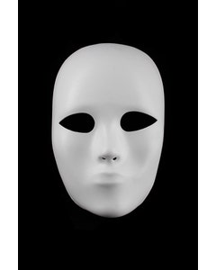 Full Face Heavyweight Mask Form - White