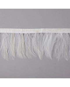 Dyed Hackle Feather Fringe - White