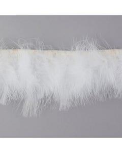 Marabou Feather Fringe White