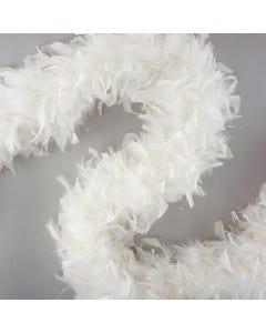 Chandelle Boas with Lurex - White/Opal Lurex