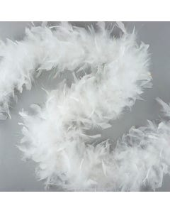 OPAL LUREX WHITE FEATHER BOA