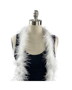 Value Two-Ply Ostrich Feather Boa - White