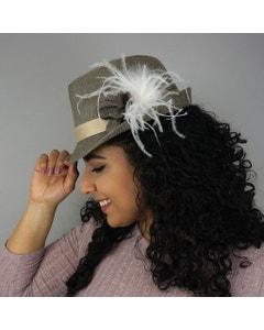 Ostrich Feather Clip-White