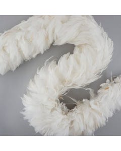 """Rooster Schlappen Feather Boas - 8 -10"""" - White"""