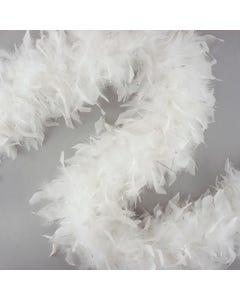 Chandelle Boas with Lurex - White/Silver Lurex