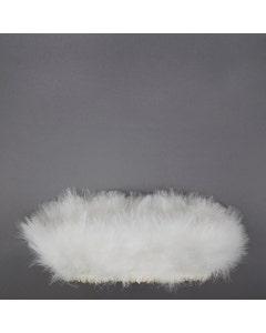 Turkey Blood-Good Quill Marabou - White