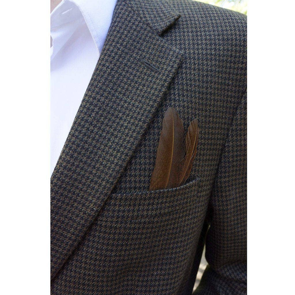 feather boutonniere